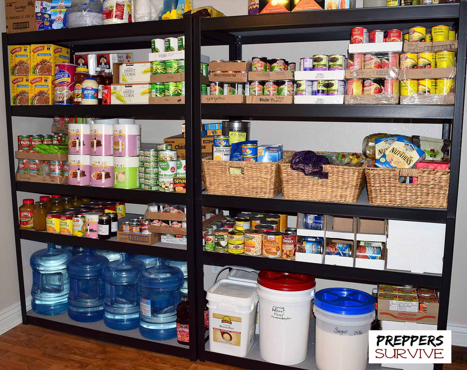 An Uncensored Peek Inside a Preppers Pantry  Preppers