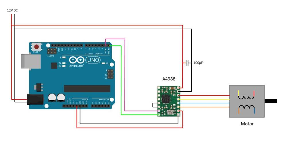 medium resolution of arduino stepper motor control using pololu driver the arduino uno circuit diagram wavgat uno wiring