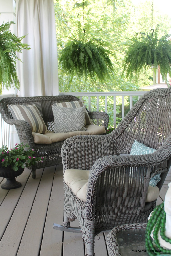 cane back dining chair blue fabric chairs my 2 favorite paint colors for creating a weathered gray finish