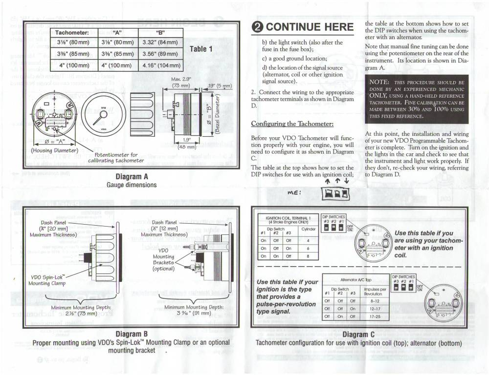 medium resolution of boat gauge wiring diagram for tachometer thesamba vdo programmable tachometer instructions