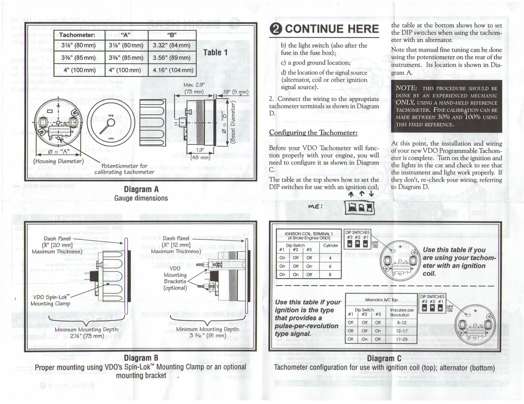 hight resolution of boat gauge wiring diagram for tachometer thesamba vdo programmable tachometer instructions