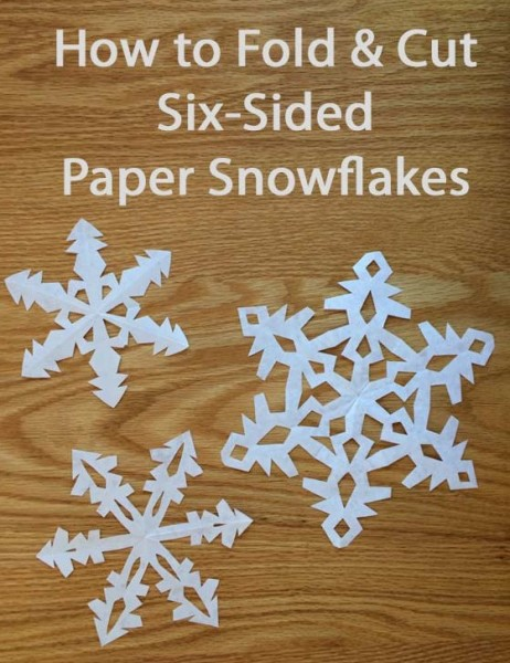 foldable snowflakes