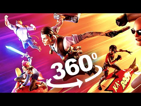 Fortnite 360 Legendary Dragon Flight and Gameplay 4K