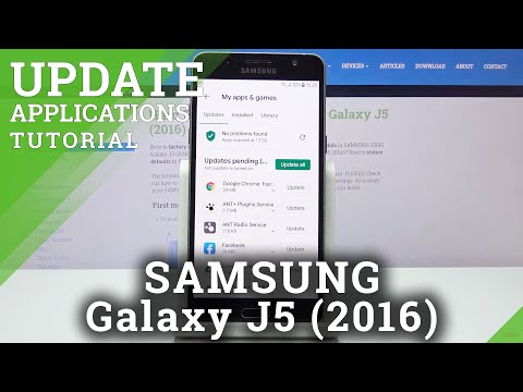 How to Update Apps in SAMSUNG GALAXY J5 (2016)- Download Lates App Version