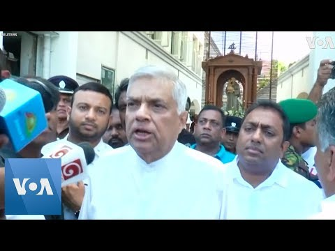 Sri Lankan PM Visits Damaged Church After Deadly Bomb On Easter Sunday