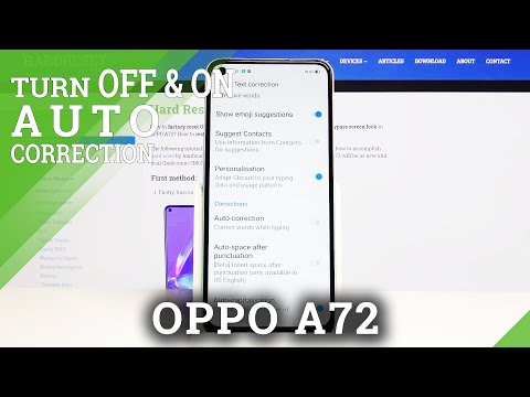 How to Enter Text Correction Options in Oppo A72  - Spell Checking Features
