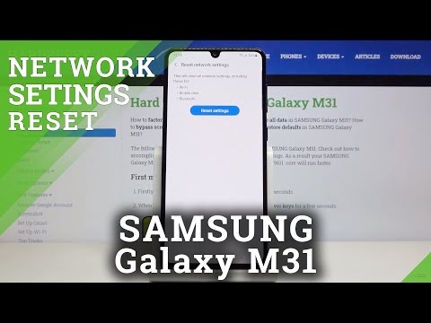 How to Reset Network Settings in SAMSUNG Galaxy M31 - Restore Network Configuration