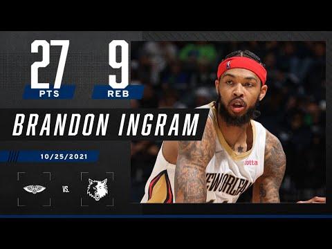 Brandon Ingram activates BEAST MODE on 27 PTS, 9 R…