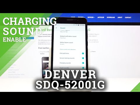 How to Enable Charging Sounds in DENVER SDQ-52001G – Sound Settings