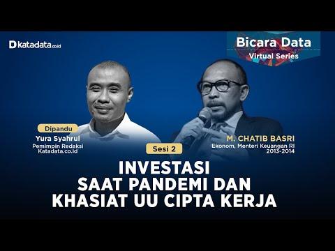 Investasi Saat Pandemi dan Khasiat UU Cipta Kerja | Katadata Indonesia