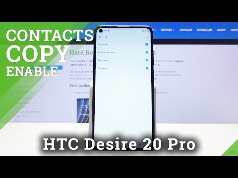 How to Copy Contacts in HTC Desire 20 Pro – Export & Import Contacts