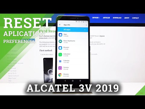 How to Reset App Preferences in ALCATEL 3V 2019 – Restore Apps Defaults