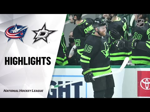 Blue Jackets @ Stars 4/17/21 | NHL Highlights