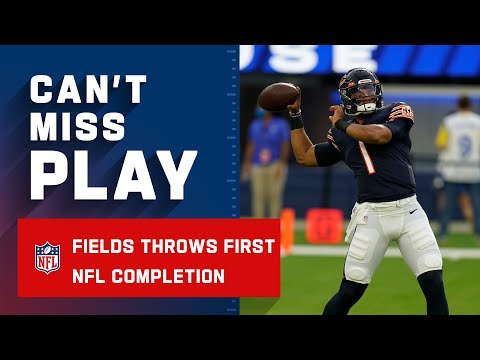 Justin Fields Throws His First NFL Completion