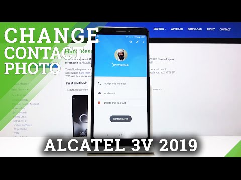 How to Add Photo to Contact in ALCATEL 3V 2019 – Personalize Contact List