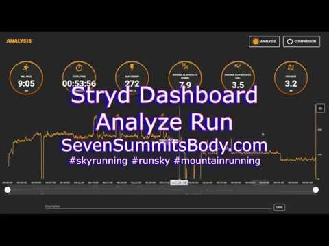 Stryd Dashboard - using the Analyze tab
