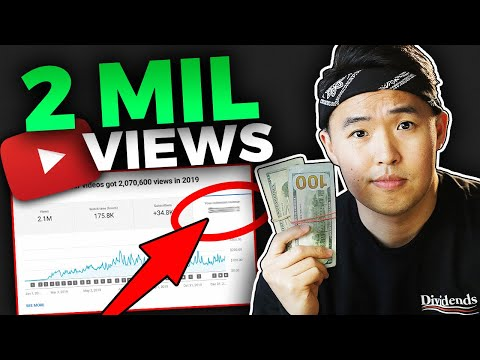 How Much YouTube Paid Me in 2019 For 2 Million Views (Passive Income)