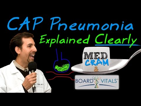 Community Acquired Pneumonia (CAP) - A BoardVitals Question Explained by MedCram.com