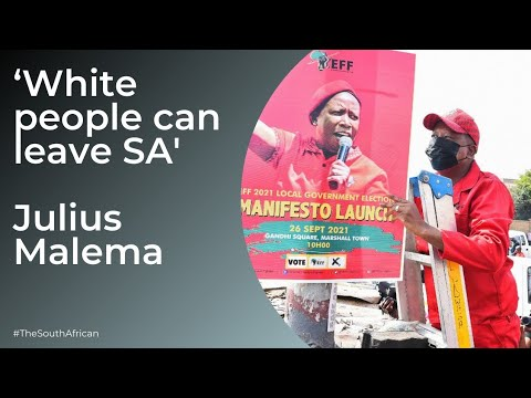 'White people can leave SA if they want' – Julius Malema