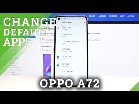 How to Change Default Applications in Oppo A72 - App Management