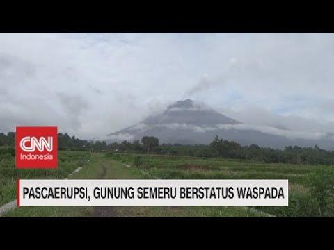 Pascaerupsi, Gunung Semeru Berstatus Waspada