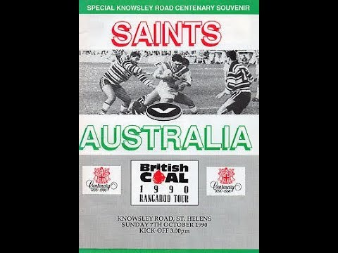 1990 tour match: AUSTRALIA v ST HELENS at Knowsley Road