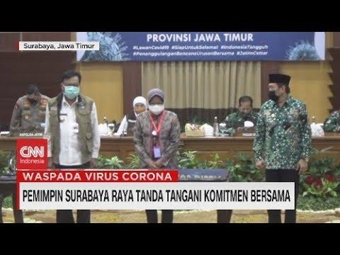Pemimpin Surabaya Raya Tanda Tangani Komitmen Bersama