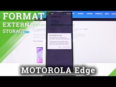 How to Format SD Card in Motorola Edge - Erase Data from Card