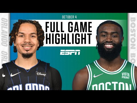 Orlando Magic at Boston Celtics | Full Game Highlights