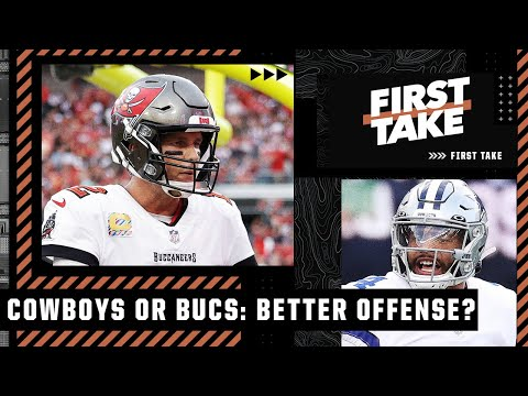 Cowboys or Bucs: Which team has the better offense? First Take debates