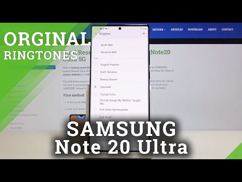 How to Change Ringtone in SAMSUNG Galaxy Note 20 Ultra – Ringtone List