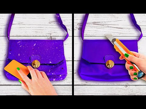 BAG RESTORATION || 28 DIY Ways To Fix Your Old Clothes And Bags || Bra Hacks And Jewelry Ideas