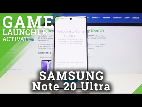 How to Activate Game Launcher in SAMSUNG Galaxy Note 20 – Organize Games