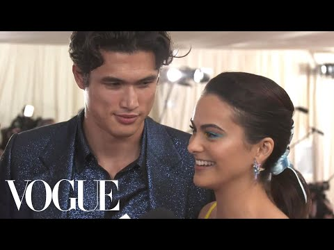 Camila Mendes and Charles Melton on their First Met Gala | Met Gala 2019 with Liza Koshy | Vogue