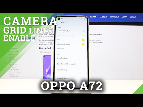 How to Enable Camera Gridlines in Oppo A72 - Deactivate Grid Lines