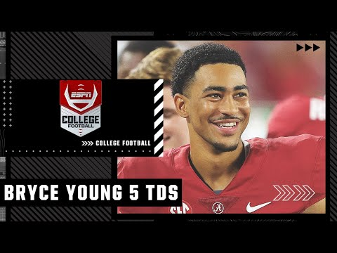 Bryce Young throws 5 TD passes in Alabama's win vs. Southern Miss | Full Game Highlights