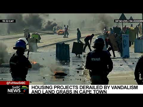 Housing projects derailed by vandalism and land grabs in Cape Town