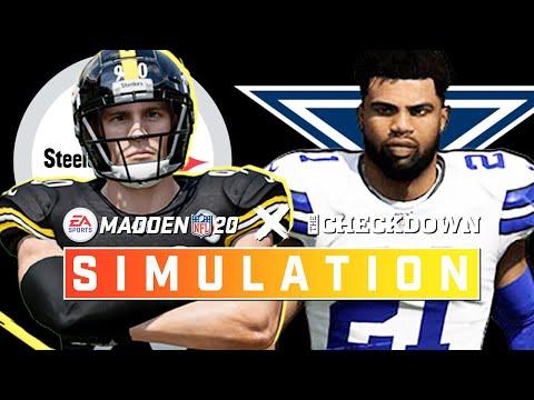 Pittsburgh Steelers vs. Dallas Cowboys Week 9   Madden 2020 Season Simulation