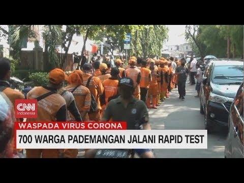 700 Warga Pademangan Jalani Rapid Test