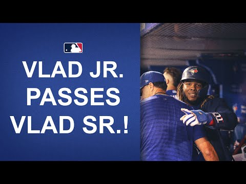 Vlad Guerrero Jr. passes his father's personal best of 44 homers in a season!