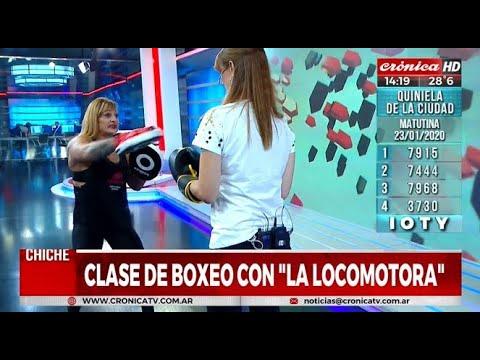 """Clase de boxeo con """"La Locomotora"""" Olivera"""