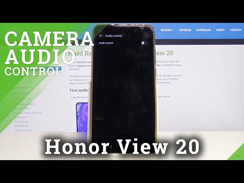 How to Activate Audio Control in Honor View 20