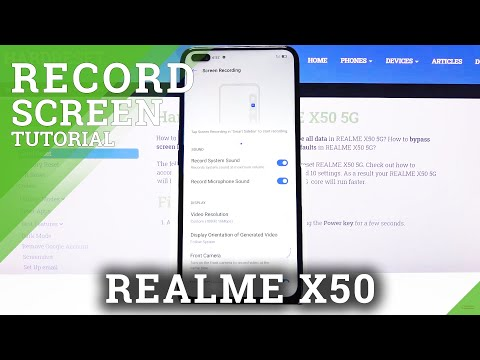 How to Record Screen in REALME X50 – Record Screen Actions