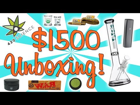 UNBOXING A $1500 BOX OF BONGS!! (feat. SilencedHippie & Slower Future)