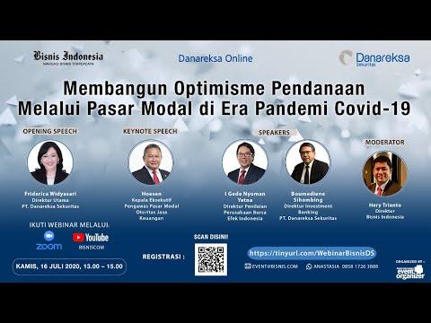 Membangun Optimisme Pendanaan Melalui Pasar Modal di Tengah Pandemi Covid-19