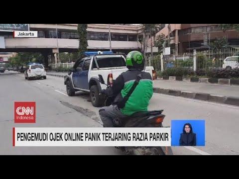 Pengemudi Ojek Online Panik Terjaring Razia Parkir
