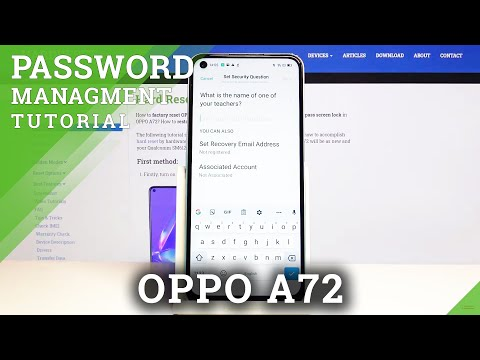How to Set Password on Apps in Oppo A72 - Protect App Data