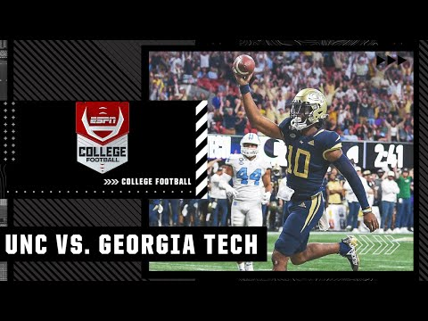 North Carolina Tar Heels at Georgia Tech Yellow Jackets | Full Game Highlights