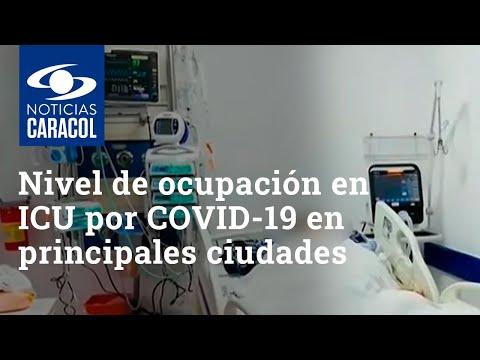 Coronavirus en Colombia: nivel de ocupación en ICU por COVID-19 en principales ciudades