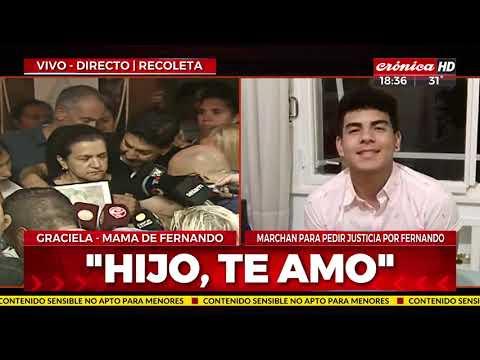 """La madre de Fernando Báez Sosa: """"Estoy muerta en vida"""""""